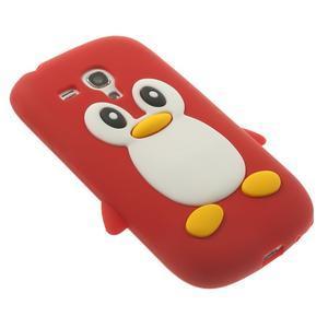 Silikonový TUČŃÁK puzdro na Samsung Galaxy S3 mini i8190- červený - 4