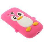 Silikonový tučniak puzdro pre Samsung Galaxy S3 mini i8190- ružový - 4/7