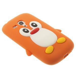 Silikonový TUČŃÁK puzdro na Samsung Galaxy S3 mini i8190- oranžový - 4