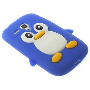 Silikonový tučniak puzdro pre Samsung Galaxy S3 mini i8190- modrý - 4