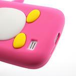 Silikon 3D TUČŇÁK pro Samsung Galaxy S4 mini i9190- růžový - 4/5