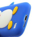 Silikon 3D TUČŇÁK pro Samsung Galaxy S4 mini i9190- modrý - 4/5