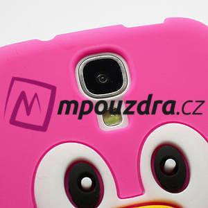 Silikonový Tučniak puzdro pro Samsung Galaxy S4 i9500- ružový - 4