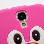 Silikonový Tučniak puzdro pro Samsung Galaxy S4 i9500- ružový - 4/5