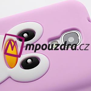 Silikonový Tučňák pouzdro pro Samsung Galaxy S4 i9500- světle-růžový - 4