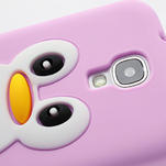 Silikonový Tučňák pouzdro pro Samsung Galaxy S4 i9500- světle-růžový - 4/7