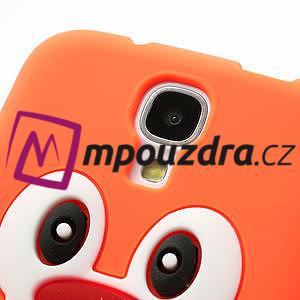 Silikonový Tučniak puzdro pro Samsung Galaxy S4 i9500- oranžový - 4