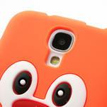Silikonový Tučniak puzdro pro Samsung Galaxy S4 i9500- oranžový - 4/6