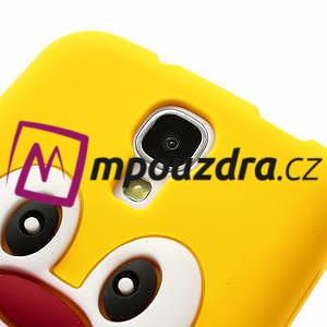 Silikonový Tučniak puzdro pro Samsung Galaxy S4 i9500- žltý - 4