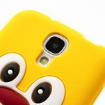 Silikonový Tučňák pouzdro pro Samsung Galaxy S4 i9500- žlutý - 4/7