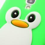 Silikonový Tučniak puzdro pro Samsung Galaxy S4 i9500- zelený - 4/6