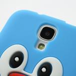 Silikonový Tučniak puzdro pro Samsung Galaxy S4 i9500- svetlo-modrý - 4/7