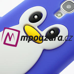 Silikonový Tučniak puzdro pro Samsung Galaxy S4 i9500- modrý - 4