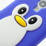 Silikonový Tučniak puzdro pro Samsung Galaxy S4 i9500- modrý - 4/6