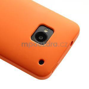Silikonové puzdro pre HTC one M7- oranžové - 4