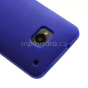 Silikonové puzdro pre HTC one M7- modré - 4