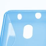 Gélové S-line puzdro na Nokia Lumia 620- modré - 4/5