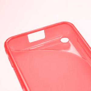 Gélové S-line puzdro na Nokia Lumia 620- červené - 4