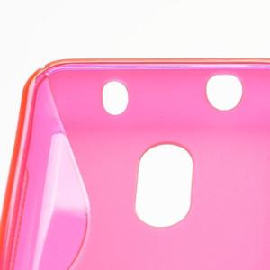 Gélové S-line puzdro na Nokia Lumia 620- ružové - 4