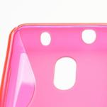 Gélové S-line puzdro na Nokia Lumia 620- růžové - 4/5