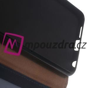 Clothy Peňaženkové puzdro pre mobil Honor 8 - tmavomodré - 4