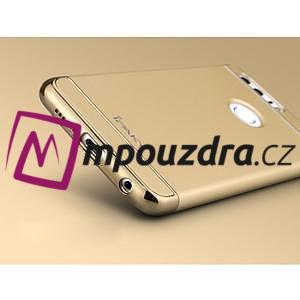 Luxusné odolný obal 3v1 pre mobil Honor 8 - zlatý - 4