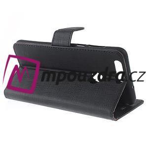 Clothy peněženkové puzdro na mobil Honor 8 - černé - 4