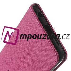 Clothy peněženkové puzdro na mobil Honor 8 - rose - 4
