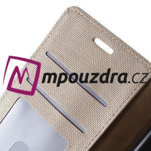 Clothy peněženkové puzdro na mobil Honor 8 - zlaté - 4