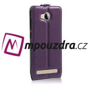 Flipové PU kožené puzdro na Huawei Y3 II - fialové - 4
