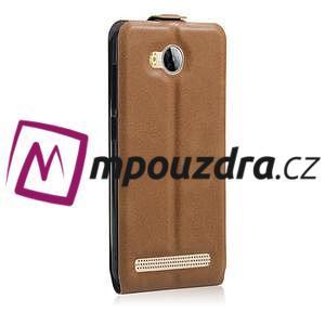 Flipové PU kožené puzdro na Huawei Y3 II - hnědé - 4