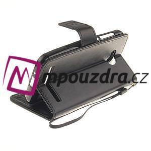 Dandelion PU kožené puzdro na mobil Huawei Y3 II - čierne - 4