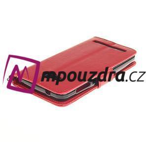 Dandelion PU kožené puzdro na mobil Huawei Y3 II - červené - 4