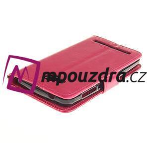 Dandelion PU kožené puzdro na mobil Huawei Y3 II - rose - 4