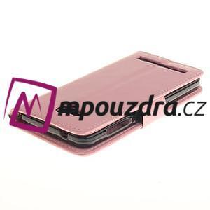Dandelion PU kožené puzdro na mobil Huawei Y3 II - růžové - 4