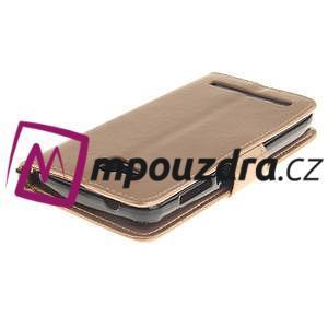 Dandelion PU kožené puzdro na mobil Huawei Y3 II - zlaté - 4