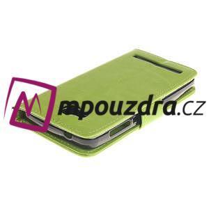 Dandelion PU kožené puzdro na mobil Huawei Y3 II - zelené - 4