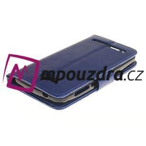 Dandelion PU kožené puzdro na mobil Huawei Y3 II - modré - 4