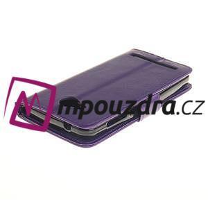 Dandelion PU kožené puzdro na mobil Huawei Y3 II - fialové - 4