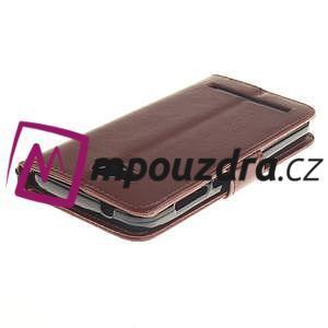 Dandelion PU kožené puzdro na mobil Huawei Y3 II - hnědé - 4