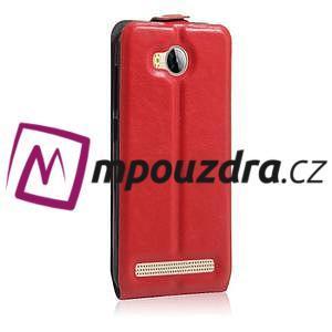 Flipové PU kožené puzdro na Huawei Y3 II - červené - 4