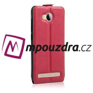 Flipové PU kožené puzdro na Huawei Y3 II - rose - 4