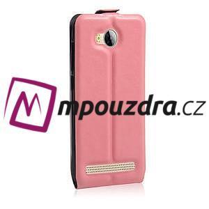Flipové PU kožené puzdro na Huawei Y3 II - růžové - 4