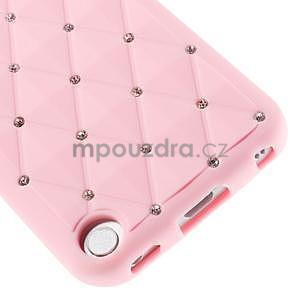 Brite silikónový obal s kamienkami iPod Touch 6 / Touch 5 - ružový - 4