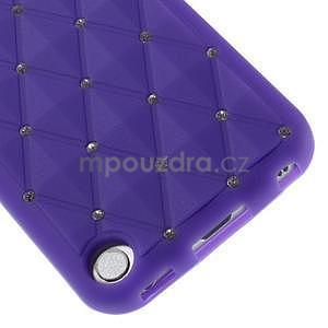 Brite silikónový obal s kamienkami iPod Touch 6 / Touch 5 - fialový¨ - 4