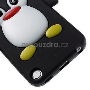 Penguin silikónový obal na iPod Touch 6 / iPod Touch 5 - čierny - 4