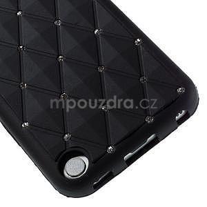 Brite silikónový obal s kamienkami iPod Touch 6 / Touch 5 - čierny - 4
