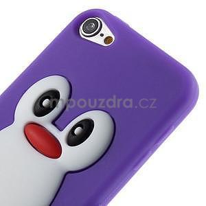 Penguin silikónový obal na iPod Touch 6 / iPod Touch 5 - fialový - 4
