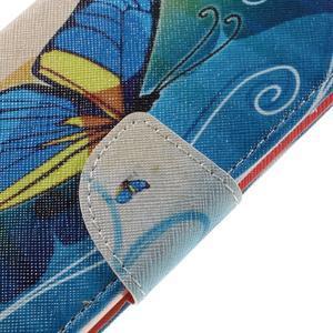 Emotive PU kožené pouzdro na LG K8 - modrý motýl - 4