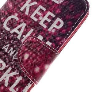 Emotive PU kožené puzdro pre LG K8 - Keep Calm - 4